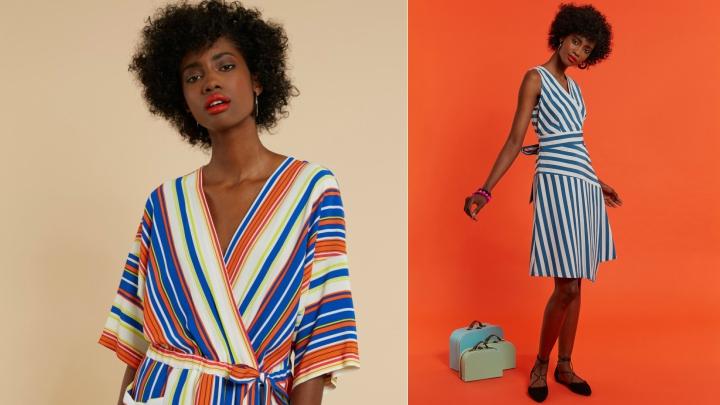 vestidos closet rayas