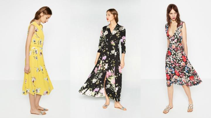 vestidos flores 2016