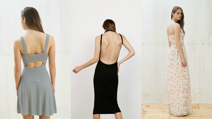 Vestidos Bershka otono espaldas