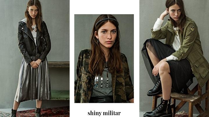 Shiny Militar stradivarius