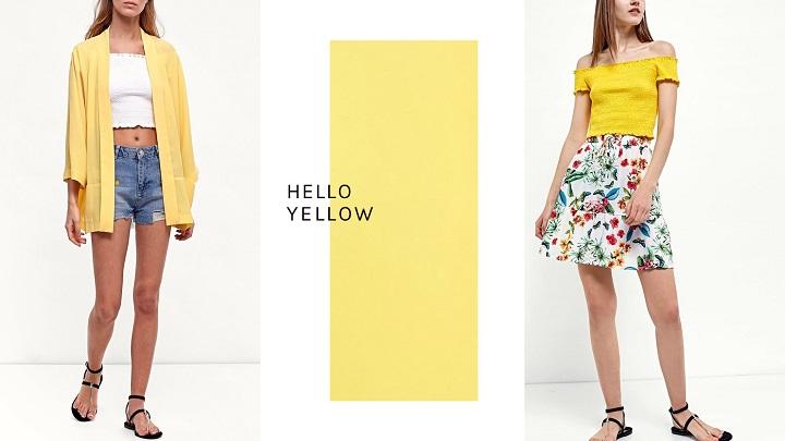 Colección Hello Yellow de Stradivarius primavera-verano 2017